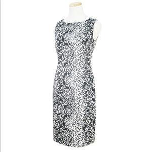Talbots Animal Print Sleeveless Sheath Dress 6